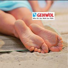 Gehwol Füße im Sand